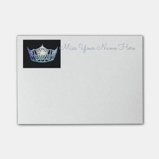 Notas Post-it® Poste-él-Notas de la corona de los azules cielos