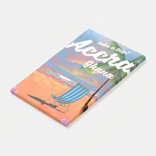 Notas Post-it® Poster del viaje de la playa de Accra Ghana