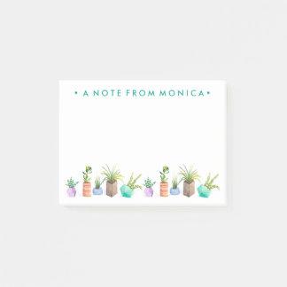 Notas Post-it® Pote de Succulents