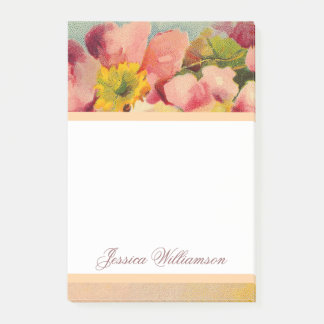 Notas Post-it® Primeroses retro elegante floral