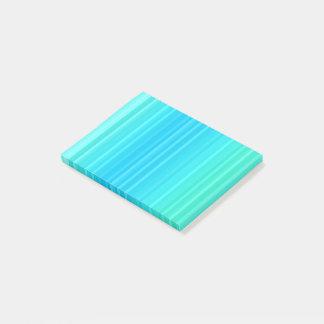Notas Post-it® Rayas abstractas en colores pastel del verde de