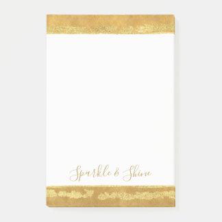 Notas Post-it® Rayas glamorosas del oro