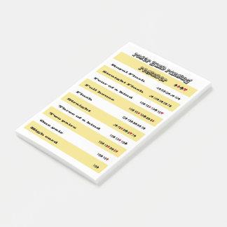 Notas Post-it® Recordatorio de la graduación de la mano de póker