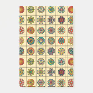 Notas Post-it® Remiendo del vintage con los elementos florales de
