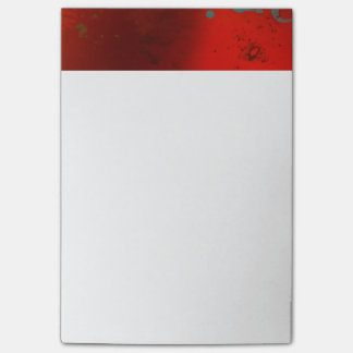 Notas Post-it® Rojo, aguamarina y arte abstracto de Digitaces del