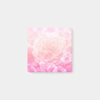 Notas Post-it® Rosa en colores pastel Ombre floral