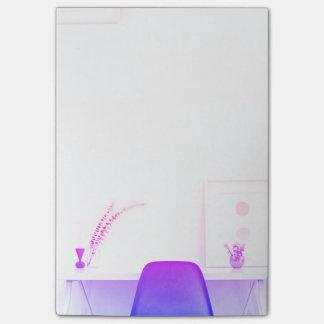 Notas Post-it® Silla púrpura de Ombre del escritorio de