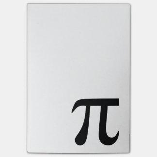 Notas Post-it® Símbolo del pi