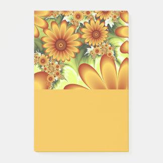 Notas Post-it® Sueño floral, arte abstracto moderno del fractal