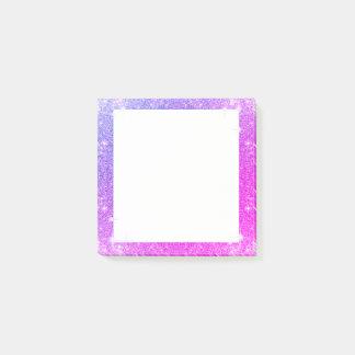 Notas Post-it® Textura de la chispa púrpura del brillo de las