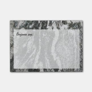 Notas Post-it® Textura decorativa de la roca con cualquier texto