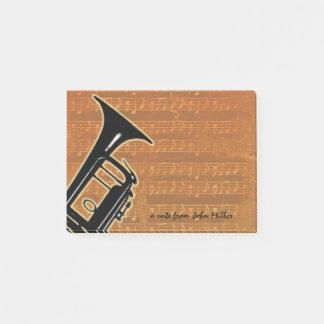 Notas Post-it® Trompeta caliente de los tonos