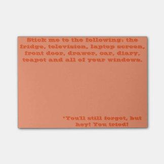 Notas Post-it® Usted olvidará de todos modos