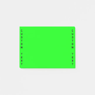 Notas Post-it® Verde vibrante de encargo vertical del texto el |
