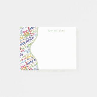 Notas Post-it® Vigésimos regalos personalizados de la fiesta de