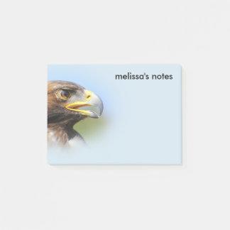 Notas Post-it® Vision de Eagle de oro joven hermoso
