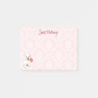 Notas Post-it® Westie subió tarjeta del día de San Valentín