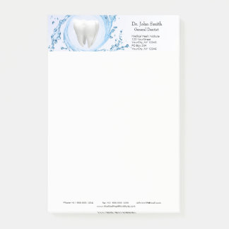Notas profesionales del Poste-it® del diente