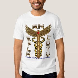Notas universales de la opinión del caduceo médico camiseta