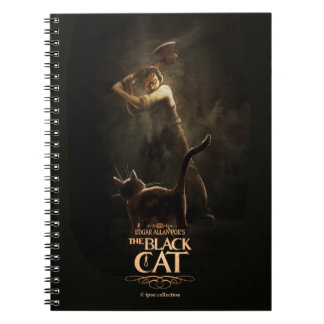 "Notebook ""The Black Cat"" Libro De Apuntes Con Espiral"