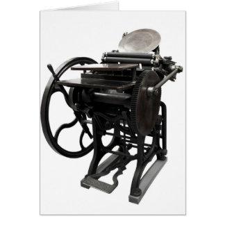 notecard 1888 de la prensa de copiar tarjeta pequeña