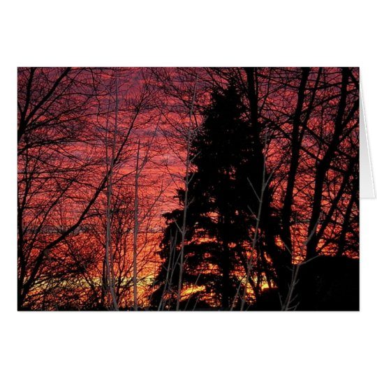 Notecard con puesta del sol magnífica tarjeta pequeña