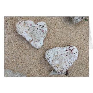 notecard coralino del amor tarjeta pequeña