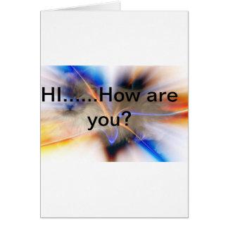 Notecard de la amistad tarjeta de felicitación