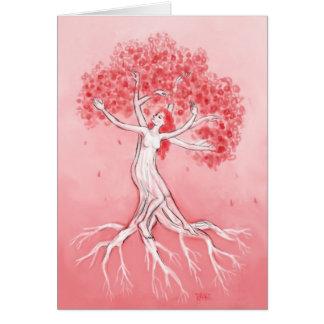 Notecard de las flores de cerezo tarjeta pequeña