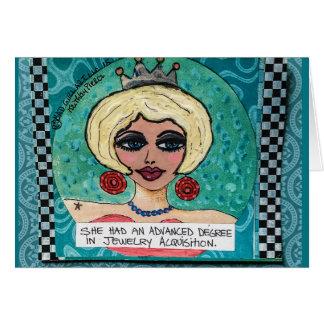 Notecard-ella tenía un grado avanzado tarjeta pequeña