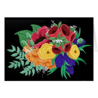 Notecard floral brillante y hermoso tarjeta pequeña