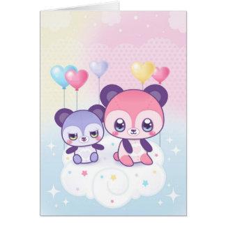 Notecard lindo de los osos tarjeta pequeña