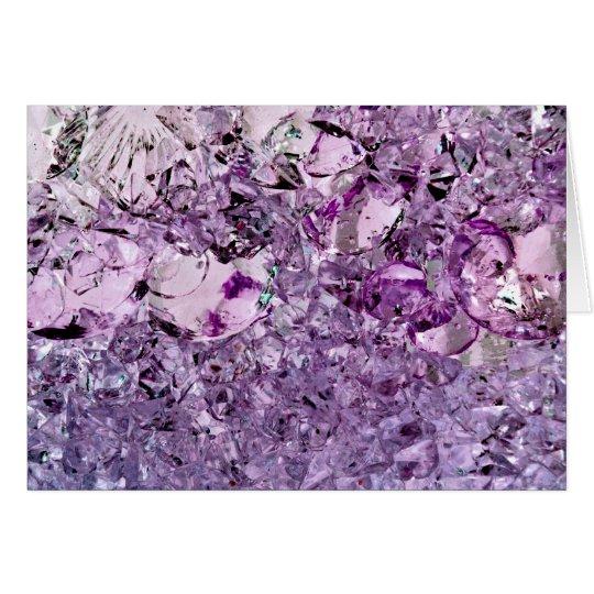 Notecard prismático púrpura tarjeta pequeña