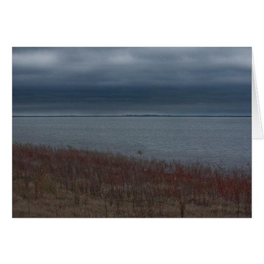Notecard tempestuoso del lago tarjeta pequeña
