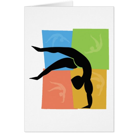 Notecards de la gimnasia tarjeta pequeña