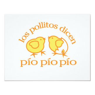 Notecards del Los Pollitos Dicen Invitación 10,8 X 13,9 Cm