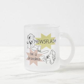Noticia de última hora soy camisetas y regalos de taza de café esmerilada
