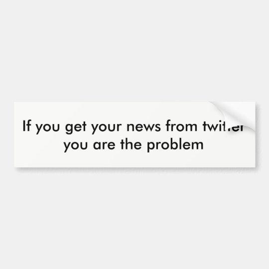 Noticias del gorjeo pegatina para coche