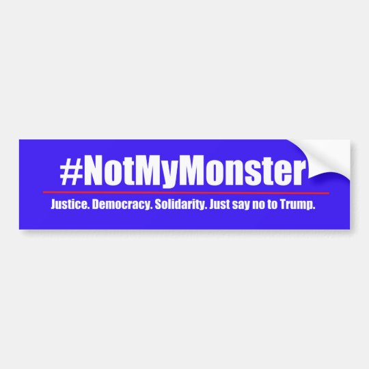 #NotMyMonster - diga no a la pegatina para el