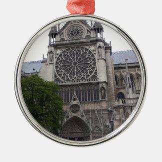 Notre Dame, París, Francia Adorno Redondo Plateado