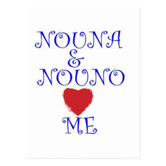 NOUNA Y NOUNO ME AMAN POSTAL