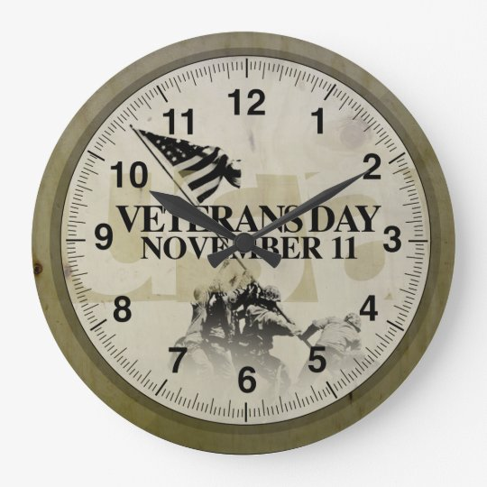 November 11 Veterans Day Edition Reloj Redondo Grande