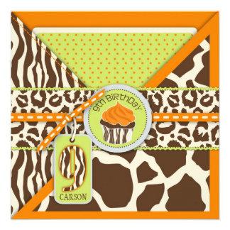 Noveno cumpleaños del safari de la magdalena anara invitaciones personales