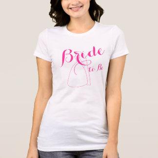 Novia a ser camisetas para mujer de los regalos