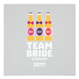 Novia Alemania del equipo 2017 Z36e6 Invitación 13,3 Cm X 13,3cm
