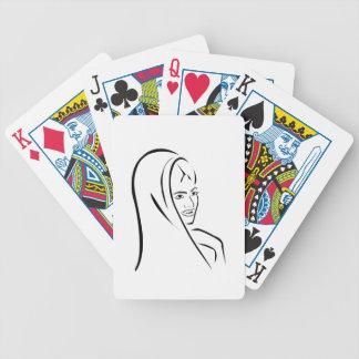 Novia asiática baraja de cartas