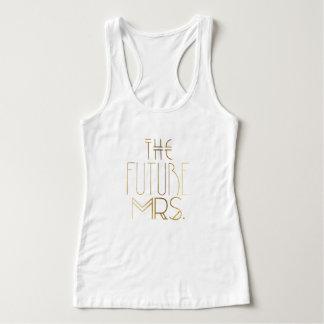 Novia bohemia del oro el   la señora futura Bridal Camiseta Con Tirantes