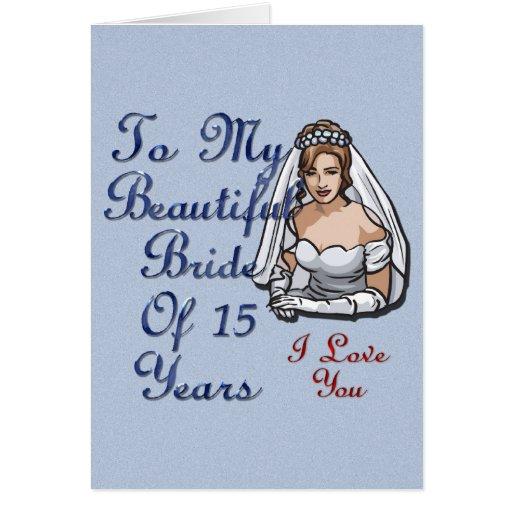Novia de 15 años tarjetas