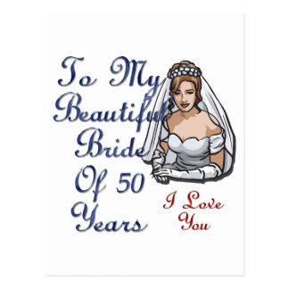 Novia de 50 años postales