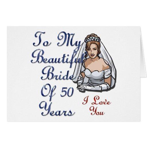 Novia de 50 años tarjeta